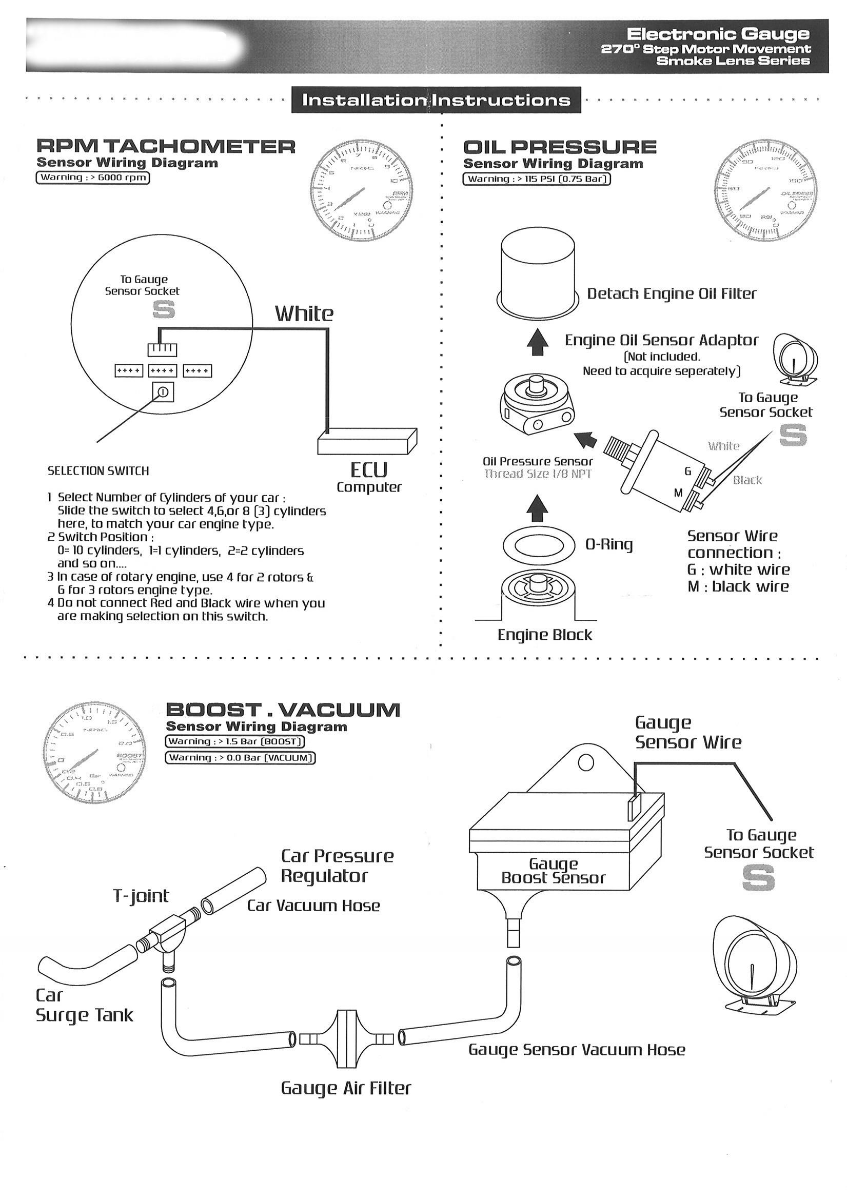 Wiring Diagrams For Aftermarket Gauges   Diy