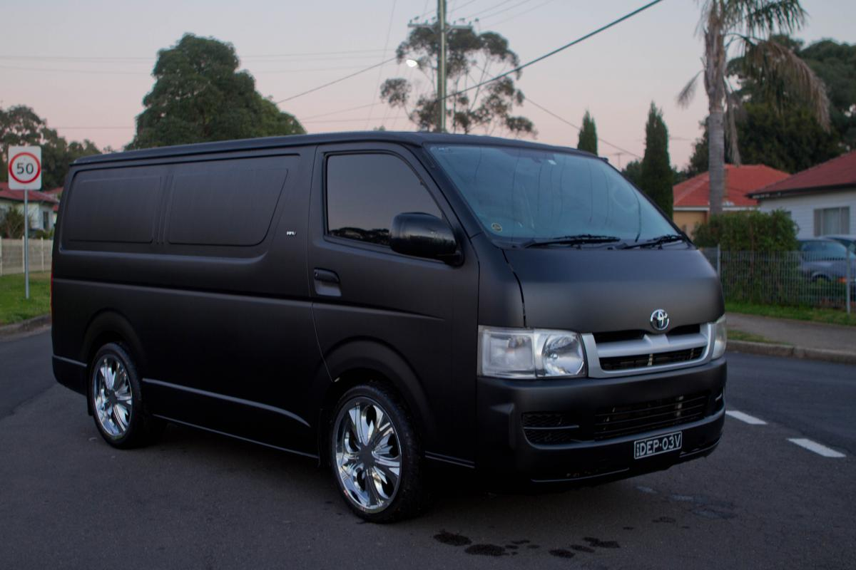 F S 2007 Toyota Hiace Flat Black Sydney For Sale