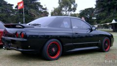 Gregs Nissan Skyline HR32 GT-s4 AWD Turbo Automatic at Melbourne F1 GP SAUVIC Display