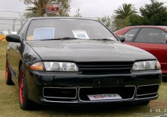 Gregs Nissan Skyline HR32 GT-s4 AWD Turbo Automatic at Melbourne 2006 F1 GP SAUVIC Display