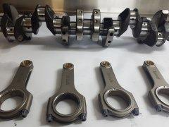 spool rods, arp studs, linished crank