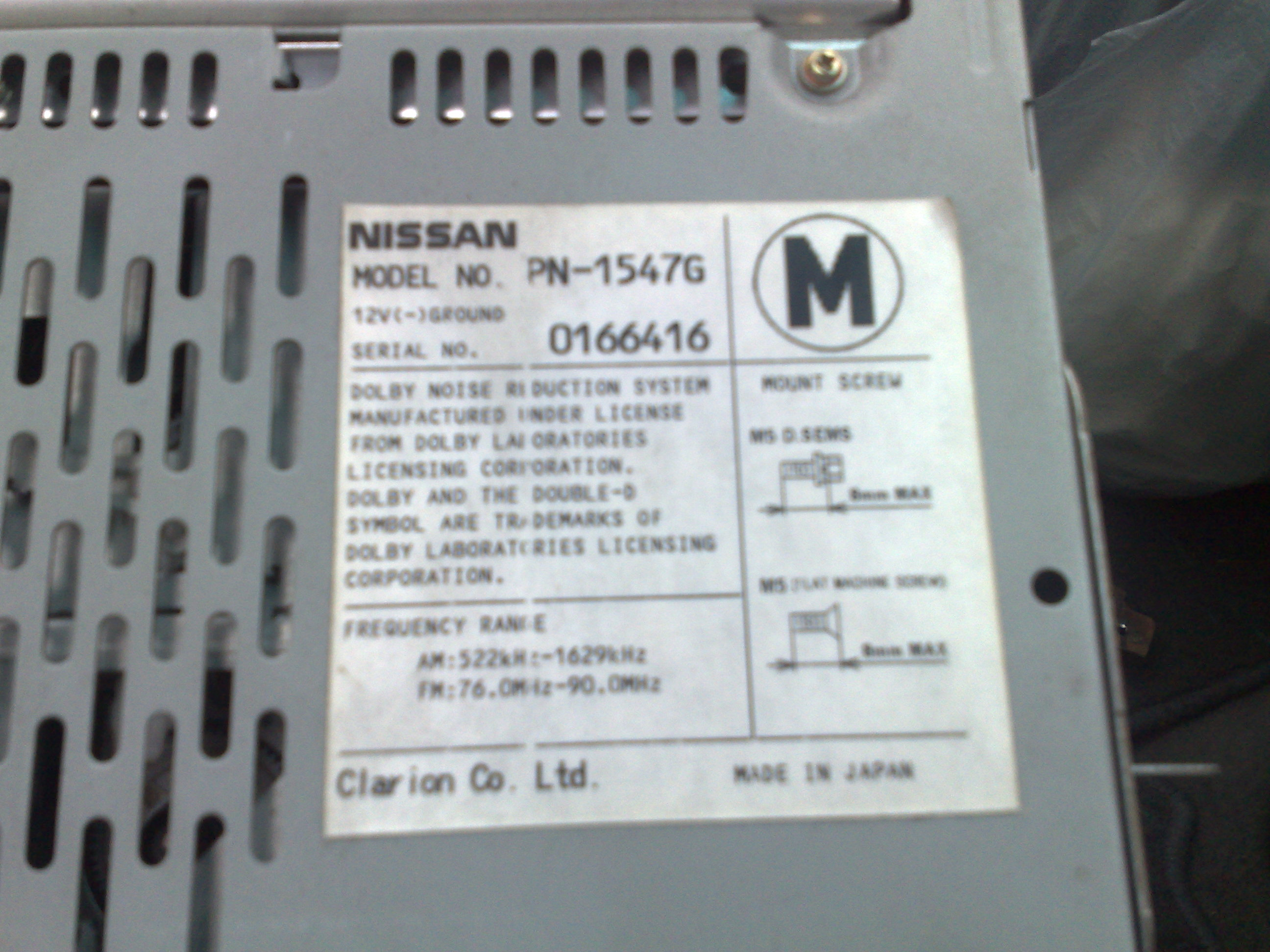 Nissan Elgrand E50 Stereo Wiring