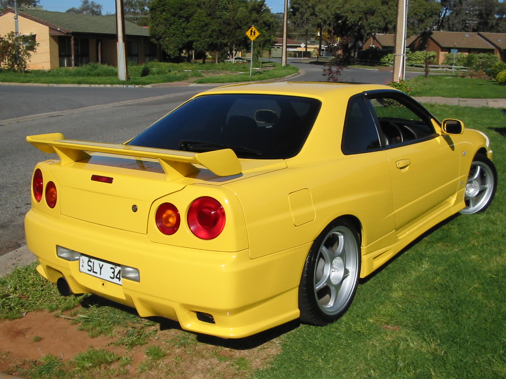 Yellow R34 Gtst Skyline - For Sale (Private Whole cars ...